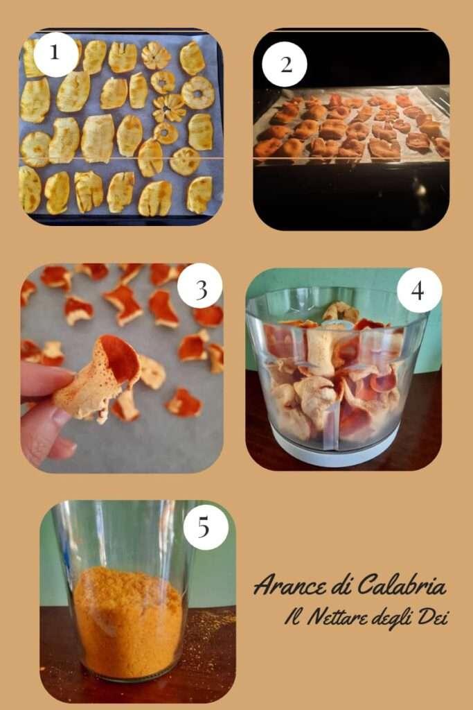 essiccare le bucce d'arancia in 5 passaggi tutorial